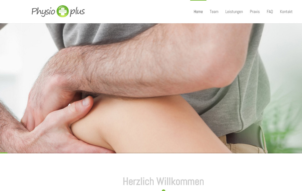 Homepage Physio Plus